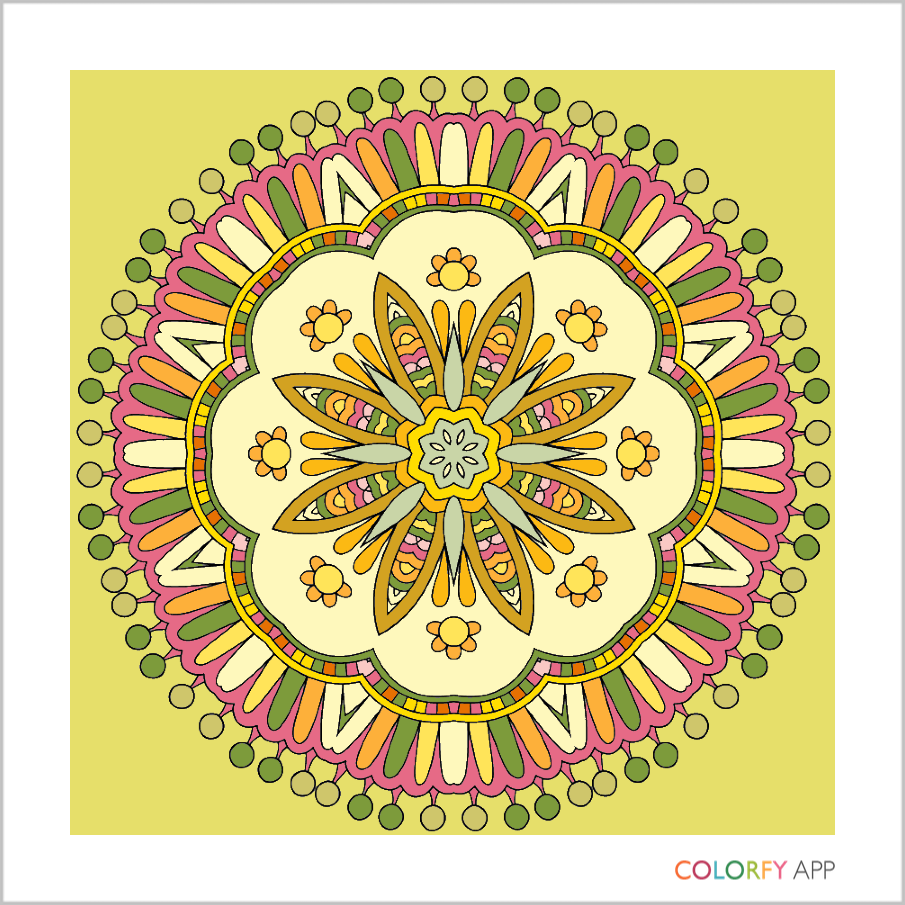Colorfy App Mandala Design