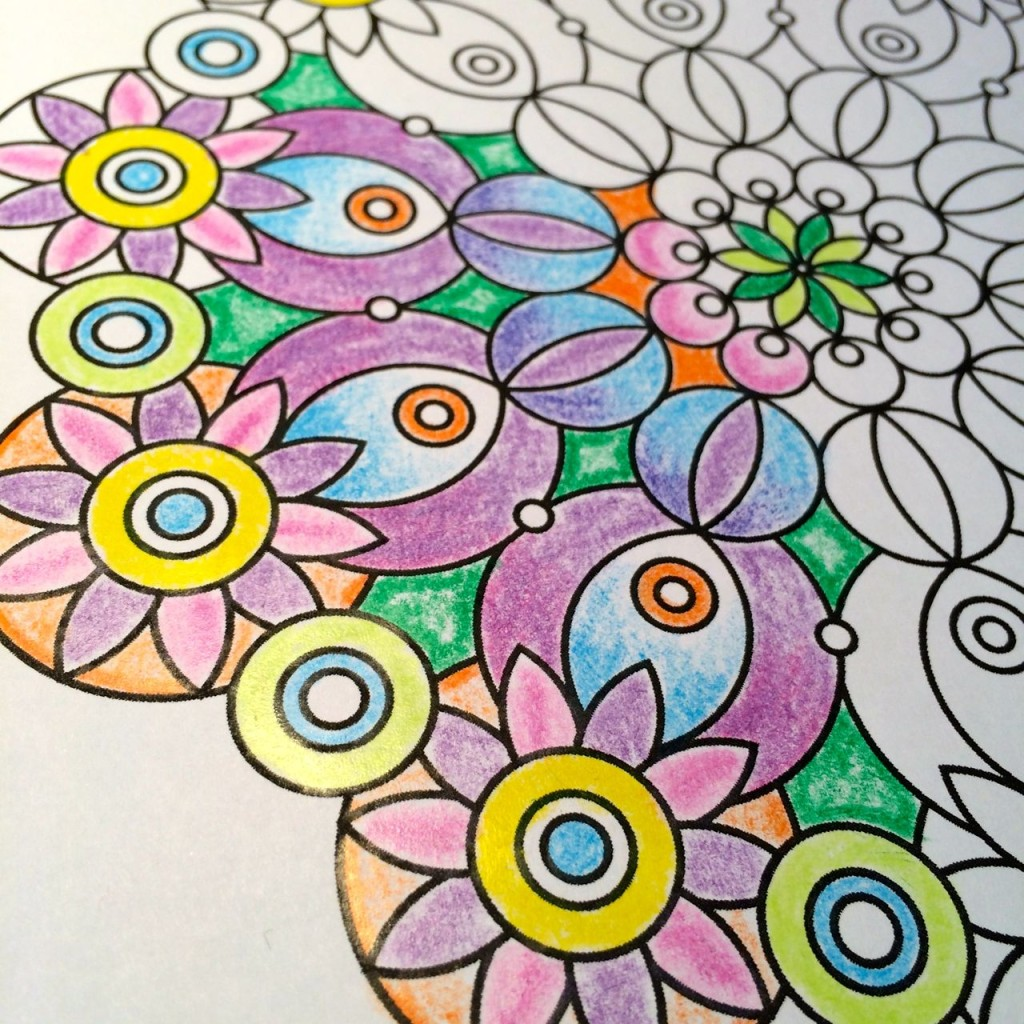 Coloring in with crayons